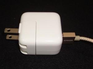 iPad充電器で急速充電