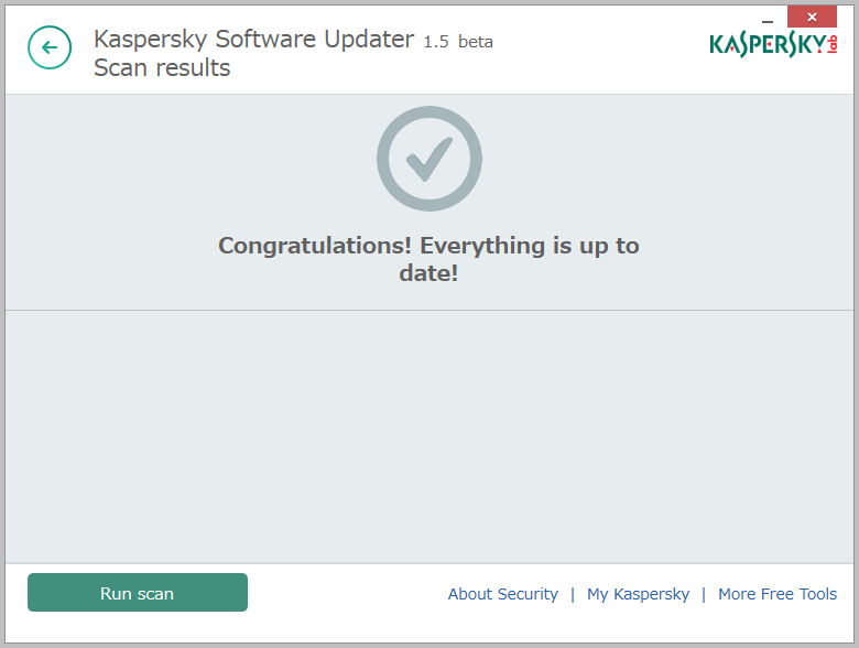 Kaspersky Security Scan8